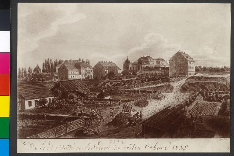 Belvedere-Linie Im Jahr 1835