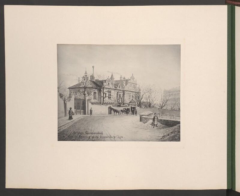 Schloss Gumpendorf Villa von Amerling bei der Gumpendorfer Linie