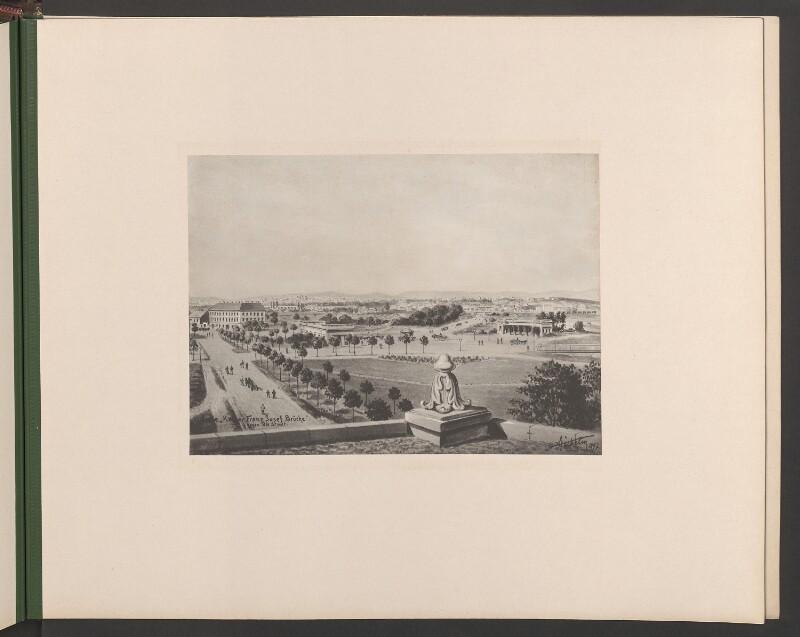 """Linie """"Kaiser Franz Josef Brücke"""" gegen die Stadt"""
