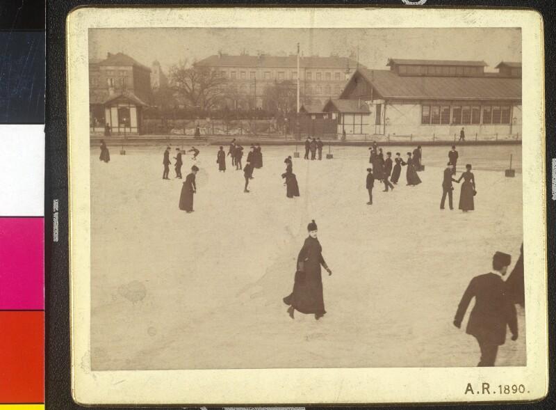 Eislaufplatz vor dem Stubentor in Wien