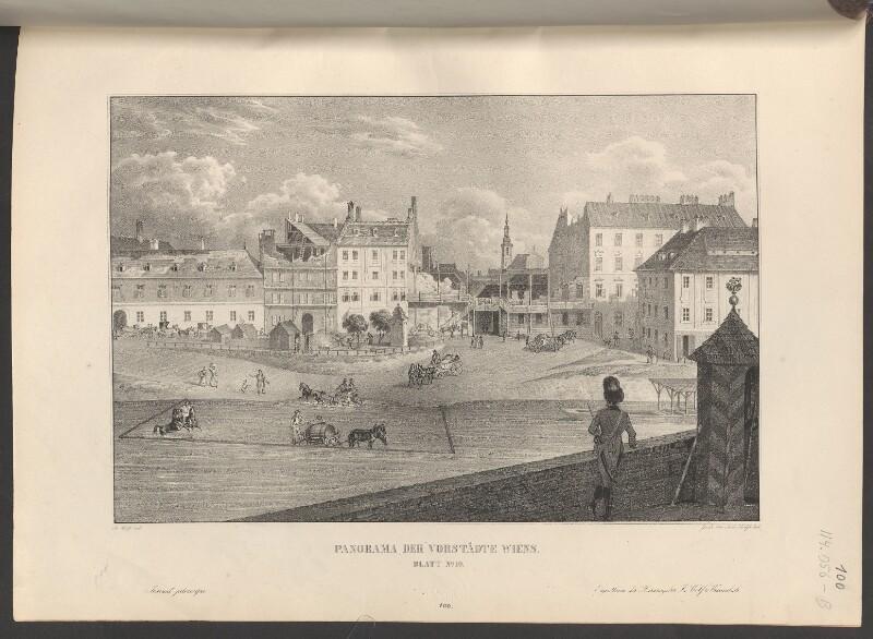 Panorama der Vorstädte Wiens. Blatt No. 10