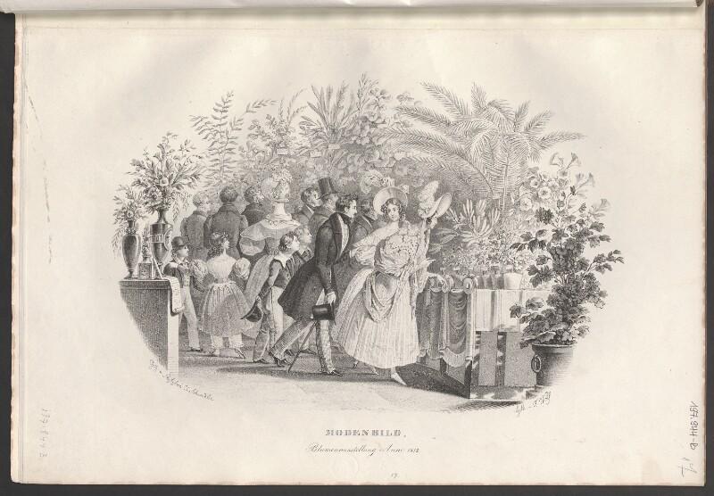 Modenbild, Blumenausstellung Anno 1832