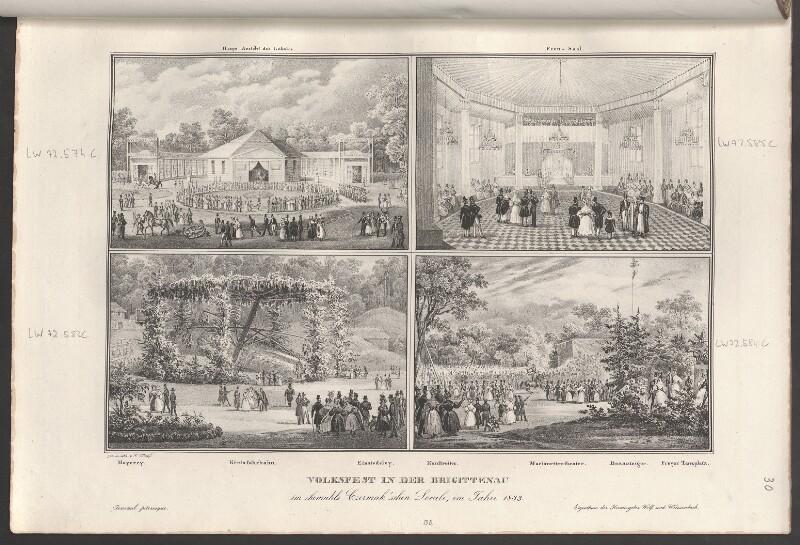 Volksfest in der Brigittenau im ehemahls Czermak'schen Locale, im Jahre 1833