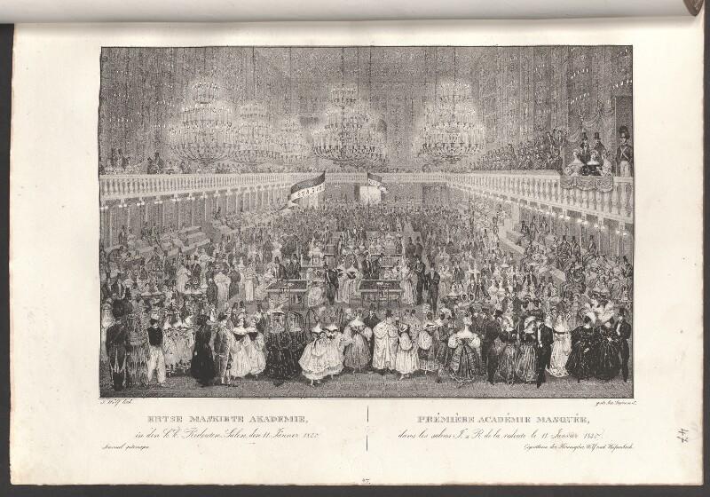 Ertse[!] maskirte Akademie in den k.k. Redouten-Sälen, den 11. Jänner 1835