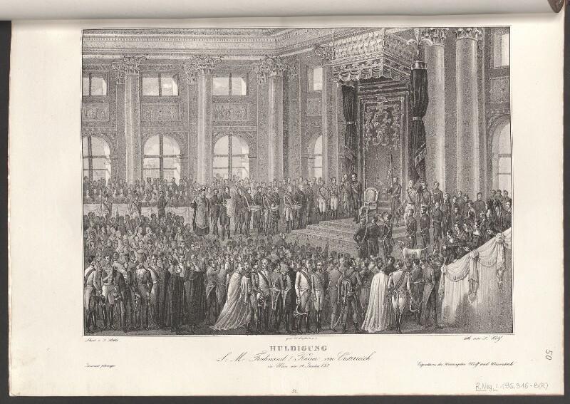 Huldigung S. M. Ferdiand I. Kaiser von Oesterreich in Wien am 14. Junius [1]835
