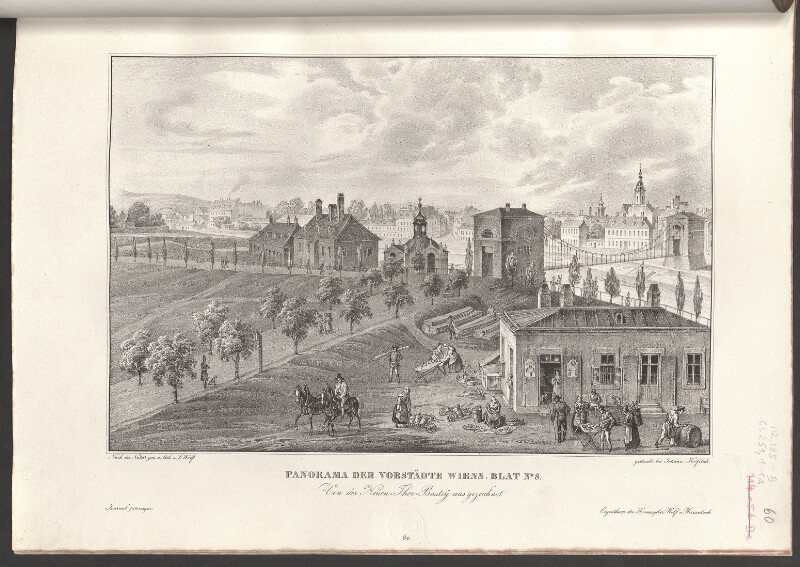 Panorama der Vorstädte Wiens. Blat No. 8. Von der Neuen-Thor-Bastey aus gezeichnet