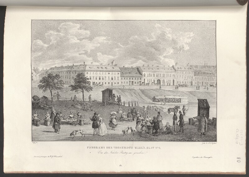 Panorama der Vorstaedte Wien's. Blat No. 9. Von der Neuthor-Bastey aus gezeichnet