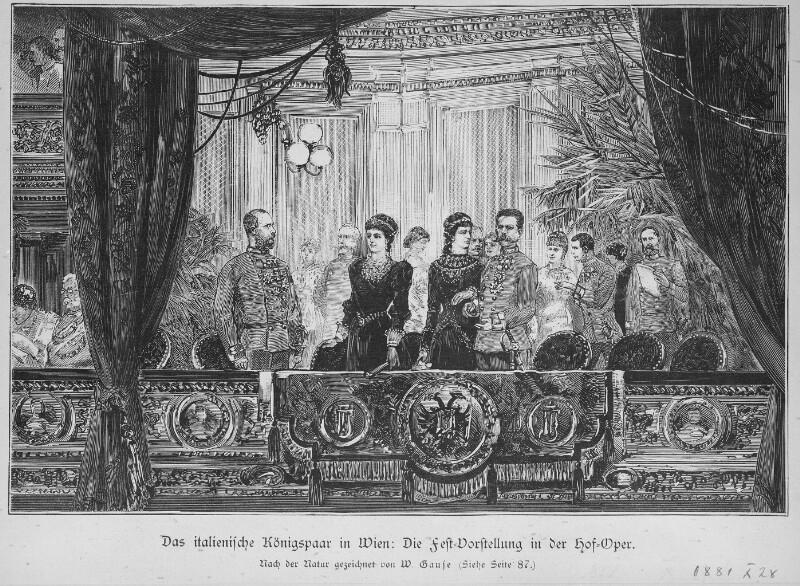 Das italienische Königspaar in Wien