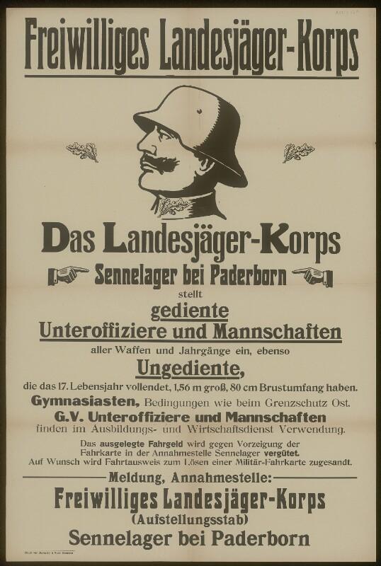 Freiweilliges Landesjägerkorps - Sennelager bei Paderborn