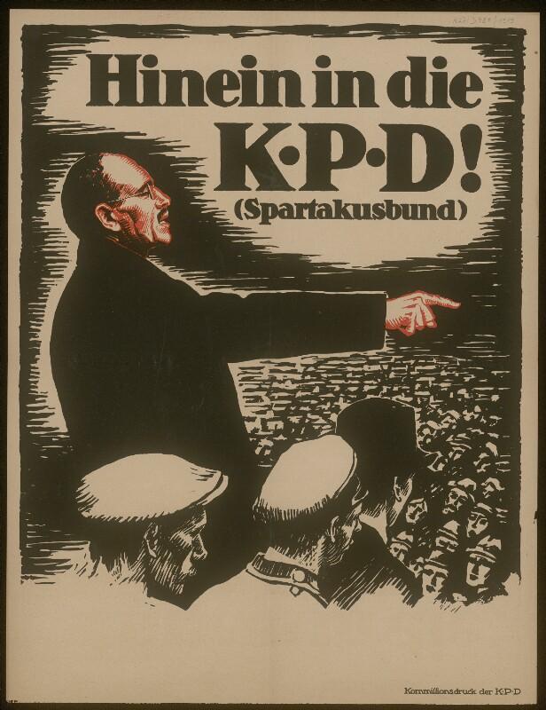 Hinein in die KPD - Spartakusbund