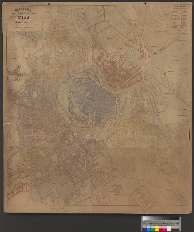 Plan von Wien, 1858
