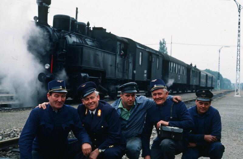 Mannschaft der Dampflok Wien - Budapest