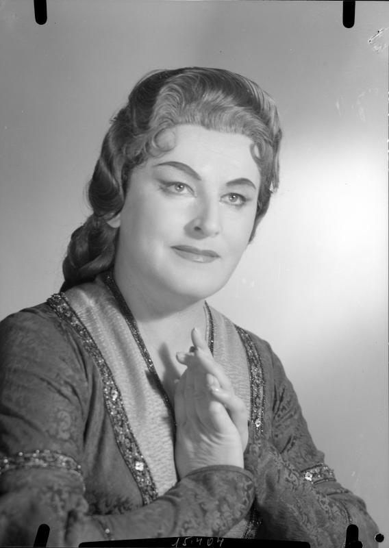 Rollenbildnis als Isolde in Rich. Wagners Oper Tristan und Isolde, Wiener Staatsoper, 14.6.1959©Bildarchiv Austria, ÖNB