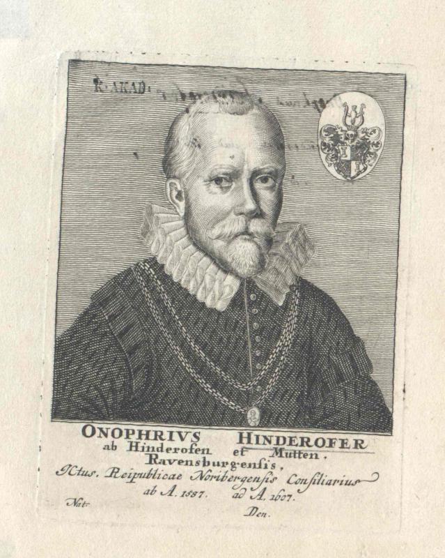 Hinderofer von Hinderofen und Mutten, Onophrius