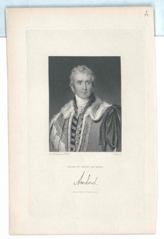 Amherst, 1. Earl Amherst, William Pitt