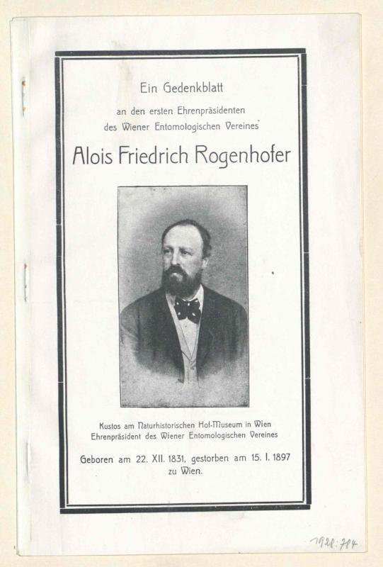 Rogenhofer, Alois Friedrich