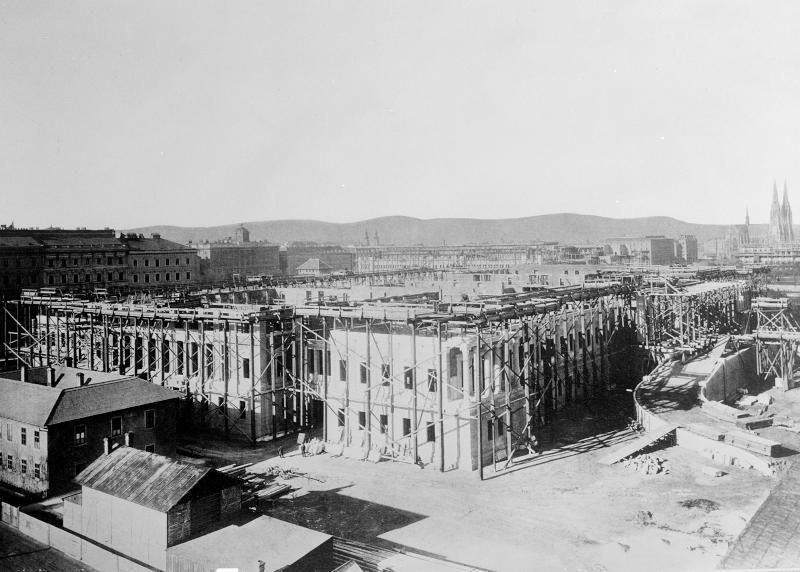 Wien 1, Parlament im Bau