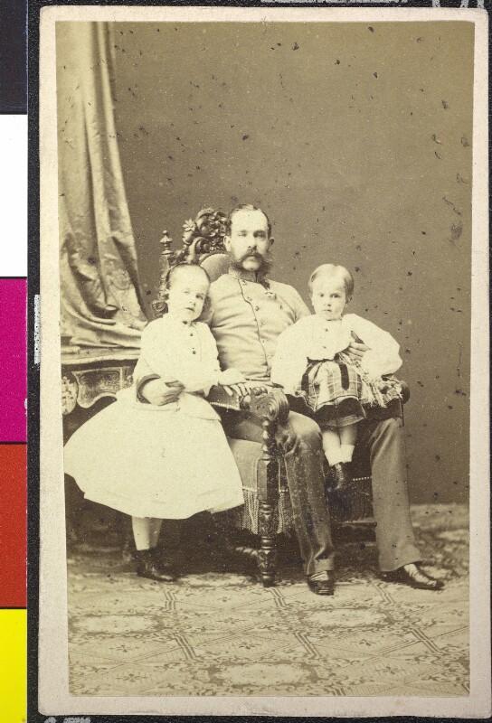 Kaiser Franz Joseph mit Kronprinz Rudolf und Erzherzogin Gisela