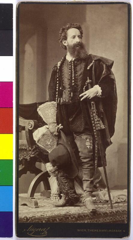 Hans Makart in Kostümierung der Renaissance