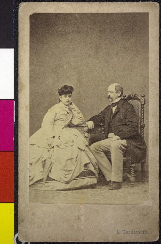 Pauline Lucca und Otto von Bismarck