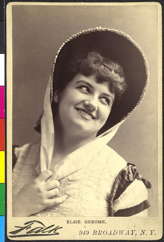 Porträt der amerikanischen Schauspielerin Elsie Gerome