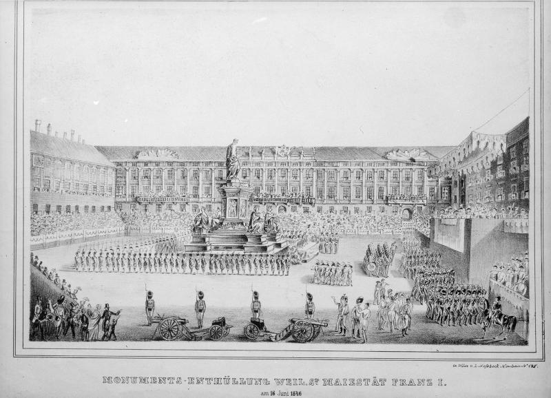 Feierliche Enthüllung des Denkmals von Kaiser Franz