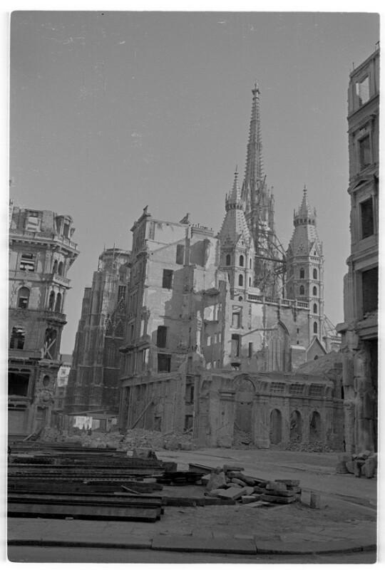 Bombenschäden in Wien