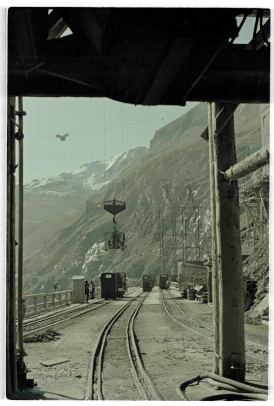 Bau des Kraftwerks Kaprun