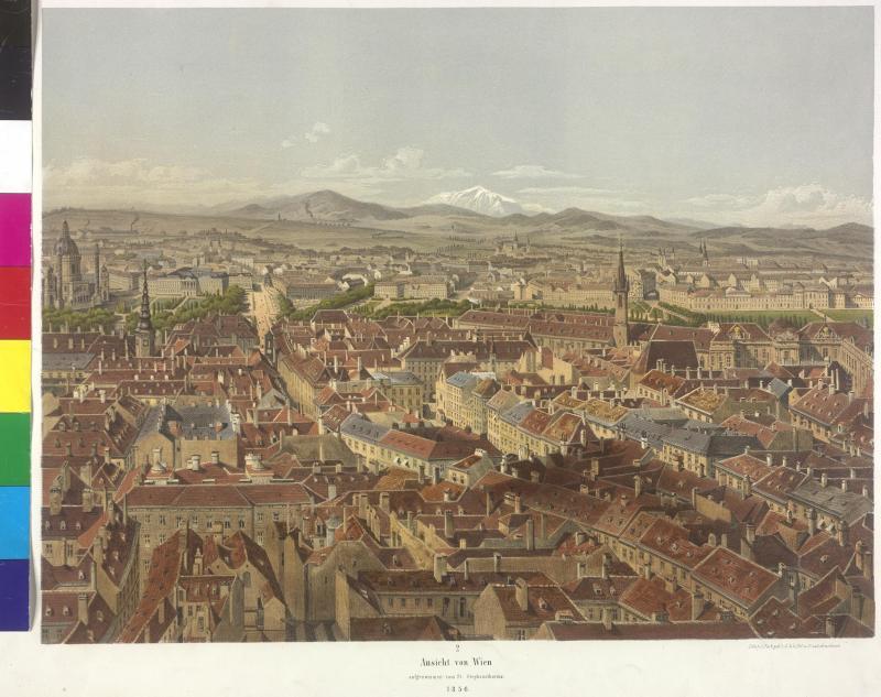Panorama von Wien gegen Süden