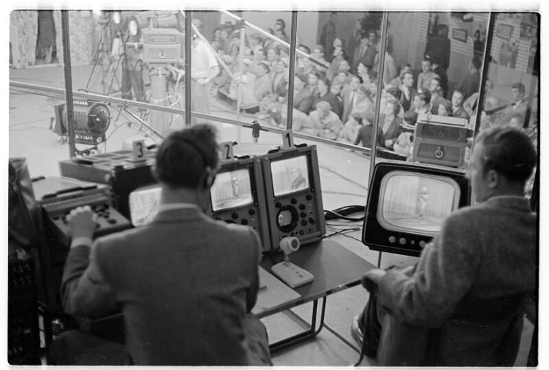 Fernsehstudio bei Radio Wien