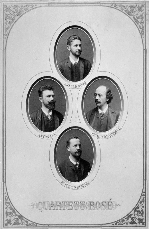 Rosé-Quartett um 1884©Bildarchiv Austria, ÖNB