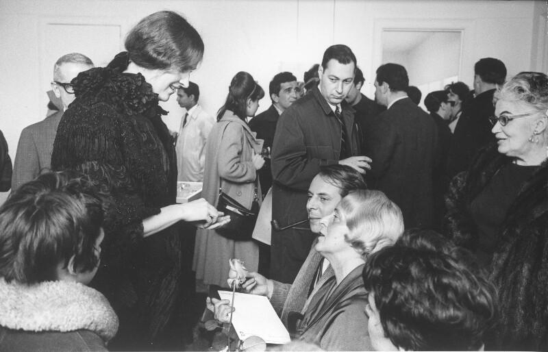 Mary Bauermeister in der Bonino-Galerie,  New York