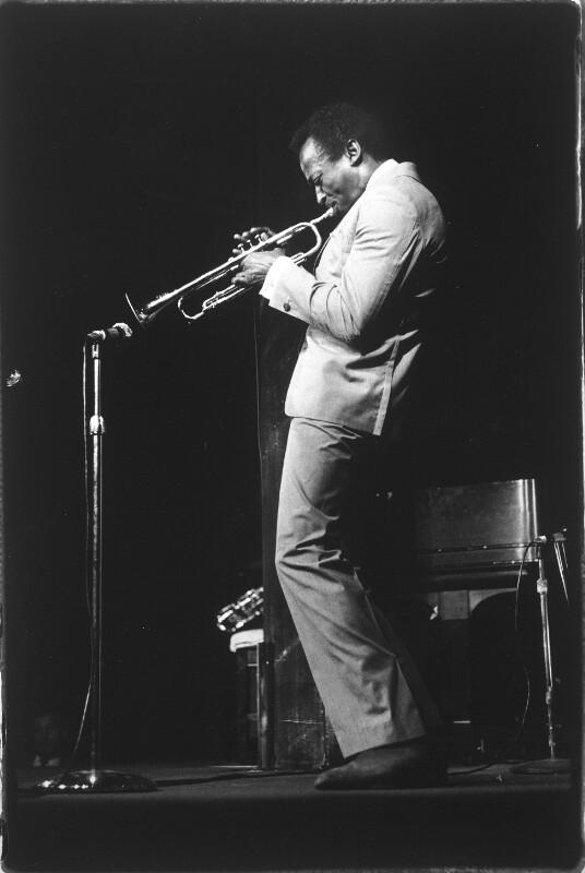 Miles Davis auf der Bühne
