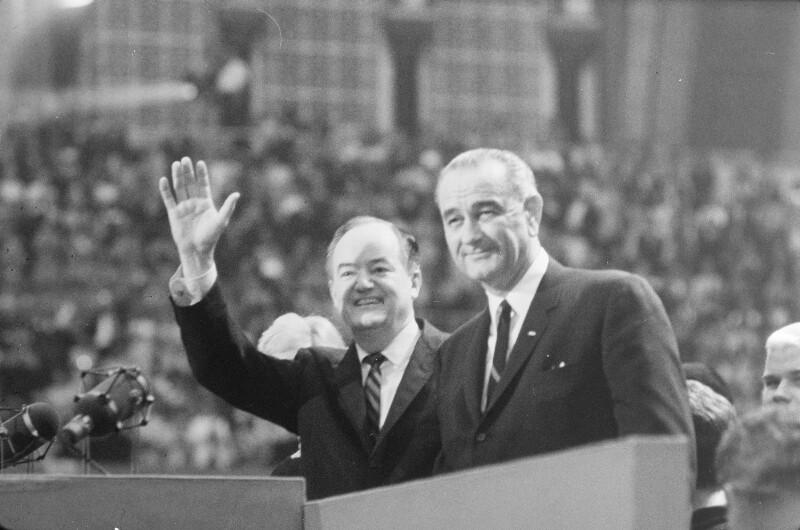 Hubert Humphrey und Lyndon B. Johnson