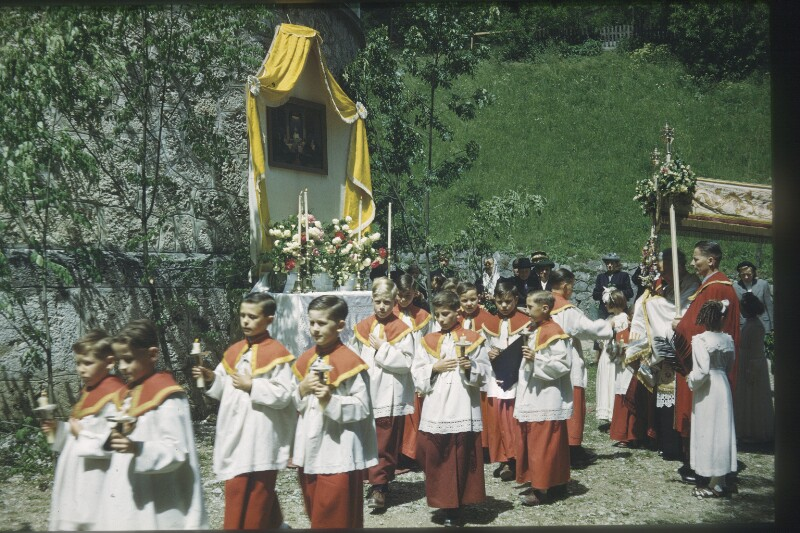 Ministranten in Reichraming 1953