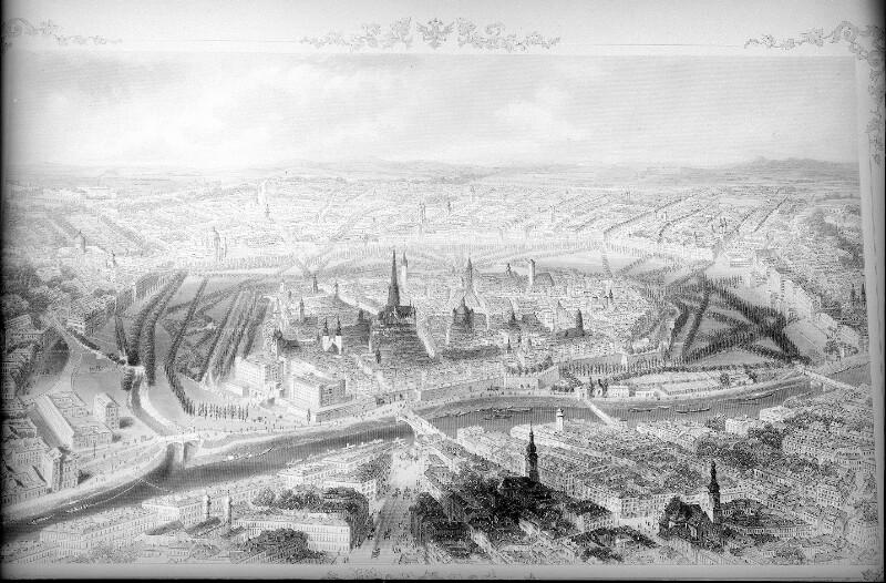 Panoramaansicht von Wien
