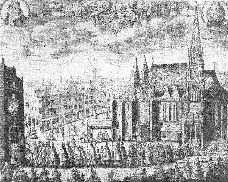 Wien, Feierliche Prozession des Hofes
