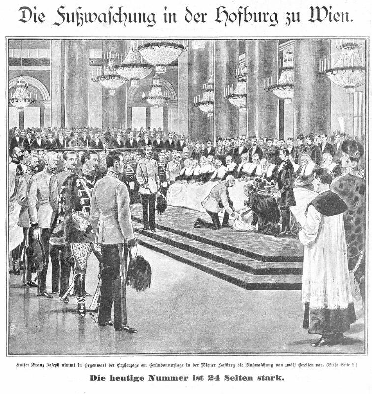 Die Fußwaschung in der Hofburg zu Wien