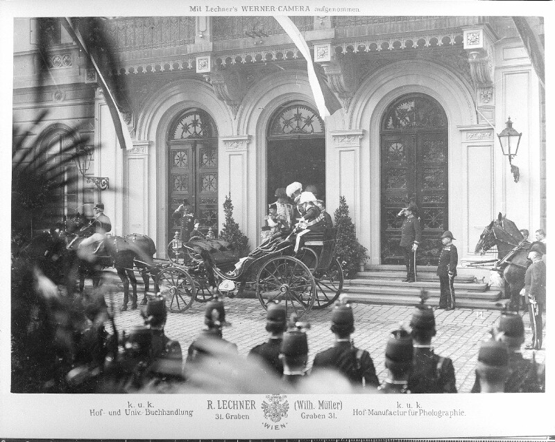 Ankunft des Zaren Nikolaus II. von Russland am Westbahnhof
