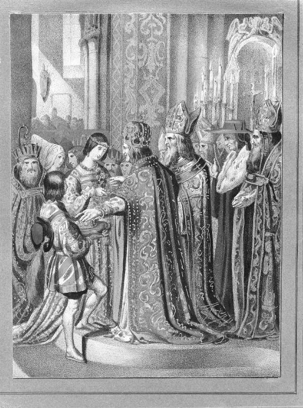 Kaiser Maximilian I. lässt sich stellvertretend für seinen Enkel mit Anna von Ungarn und Böhmen trauen