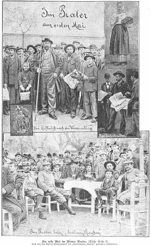 Maifeier 1896 im Wiener Prater