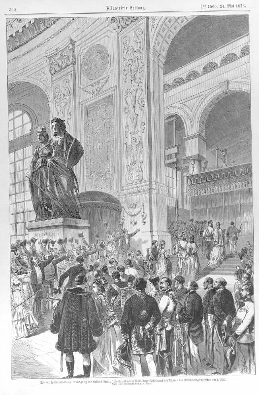 Eröffnung der Wiener Weltausstellung 1873