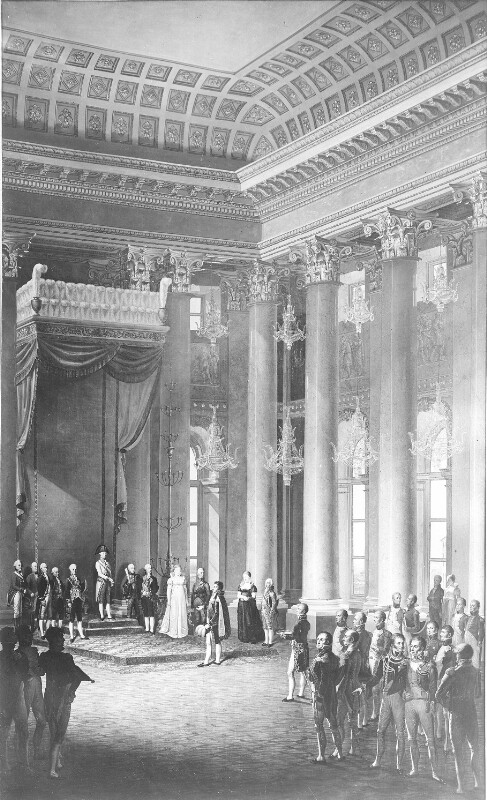 Brautwerbung um Erzherzogin Marie Luise für Napoleon in der Hofburg