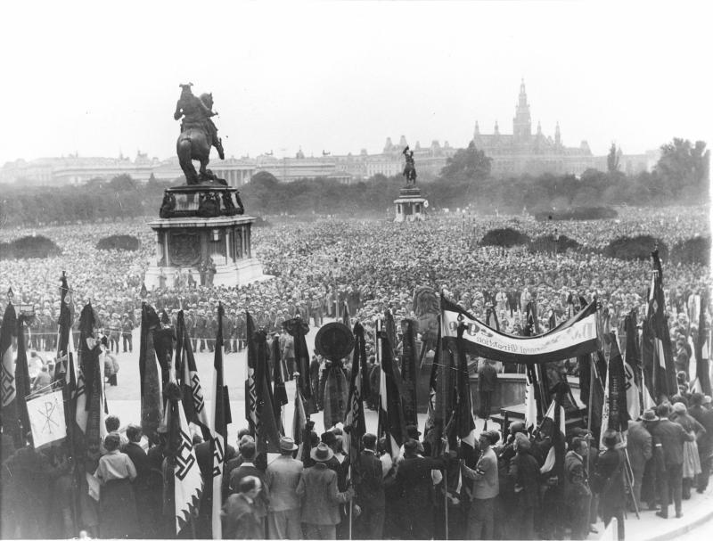Trauerkundgebung für Engelbert Dollfuß am Heldenplatz