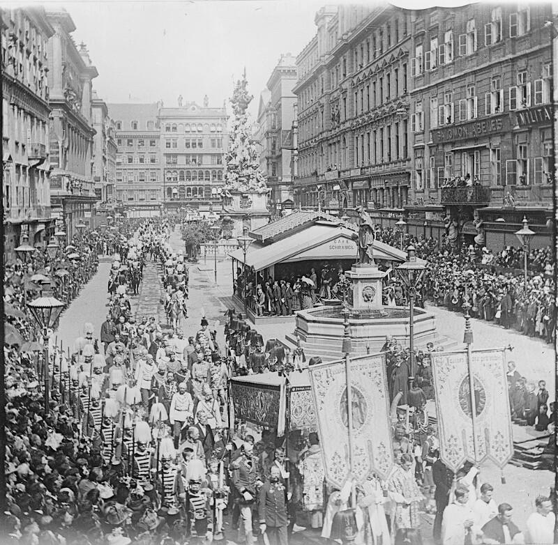 Fronleichnamsprozession am Graben in Wien