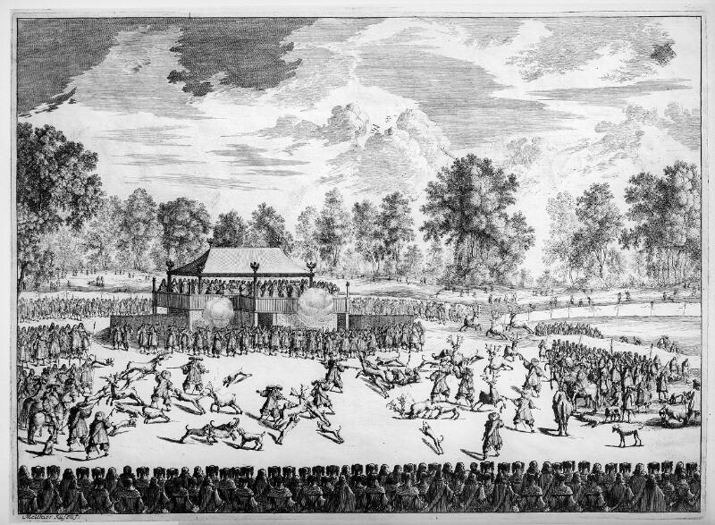 Damhirschjagd im Prater 1666