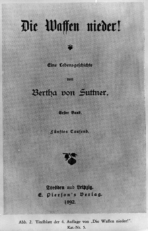 'Die Waffen nieder!' von Bertha von Suttner.