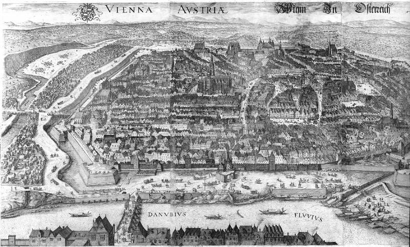 Vogelschauplan von Wien, 1609