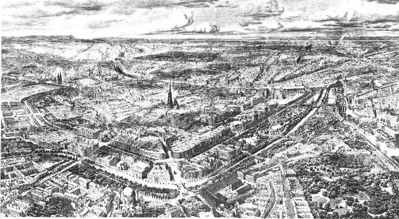 Vogelschau von Wien 1873
