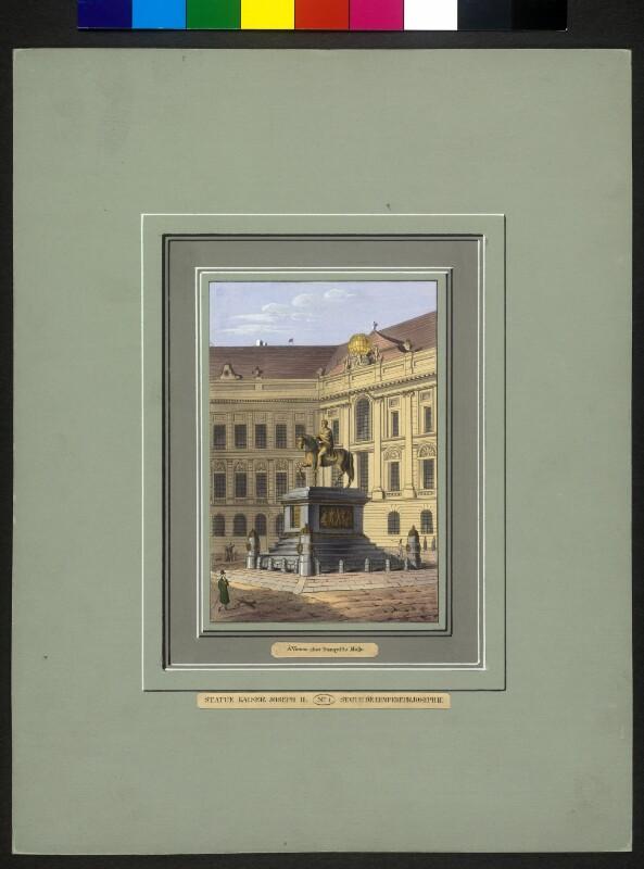 Das Reiterstandbild von Kaiser Josef II. auf dem Wiener Josefsplatz